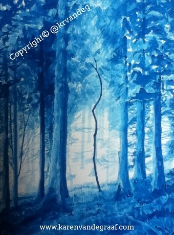 Blue Trees Small